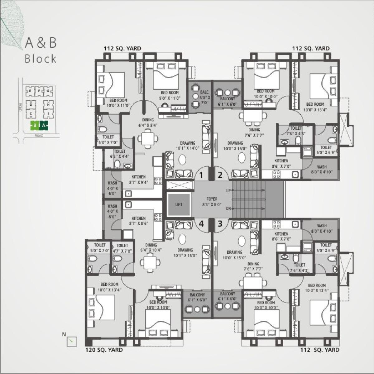 Multi storey home plans escortsea for Multiplex floor plans