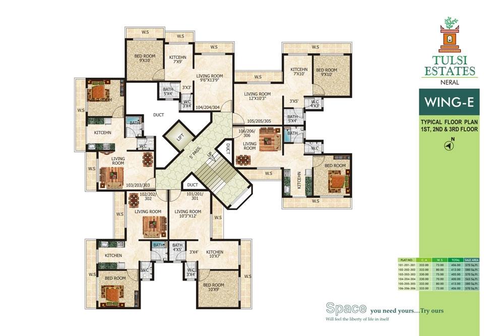 Space india tulsi estates karjat navi mumbai on for Multi story apartment building plans