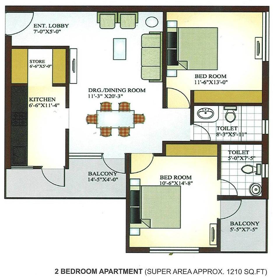 Krish infrastructure pvt ltd krish vatika alwar bypass for Apartment plans for 60x40 site