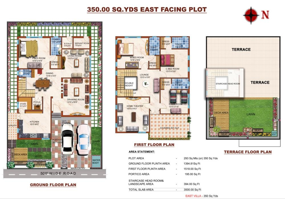 68 300 Yards House Plan For 29 Feet By 26