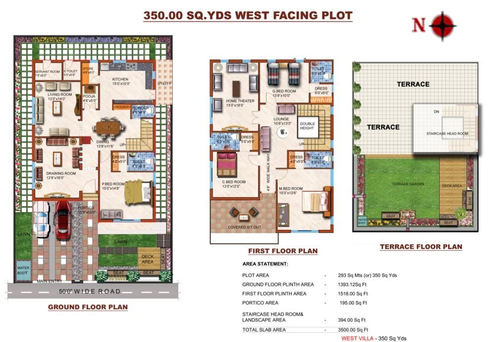 Remarkable 600 sq yards house plan ideas best for 300 yards house plan