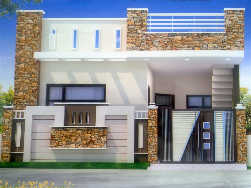 2 bhk residential house for sale in bay pass road for Latest kothi design