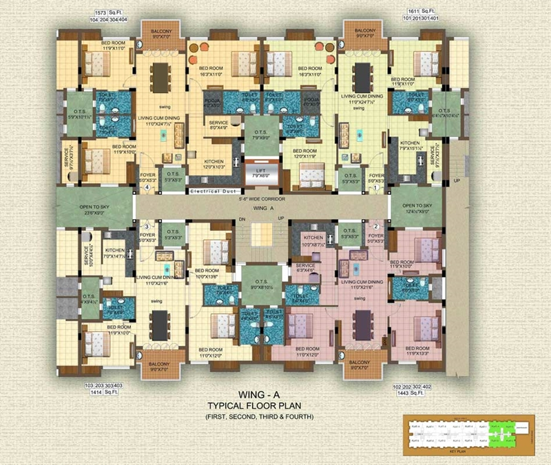 3 bhk multistorey apartment flat for sale in Multi residential for sale