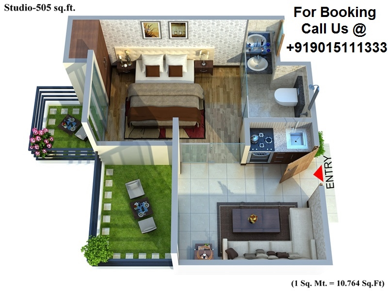 Studio Apartment Noida 1 bhk studio apartment for sale in winsten park knowledge park-5