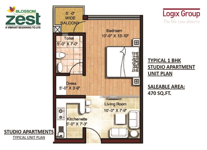 1 BHK Multistorey Apartment / Flat for sale in Logix Blossom