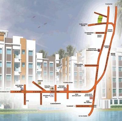 2 BHK, Multistorey Apartment / Flat For Sale in Narendra Pur, Kolkata