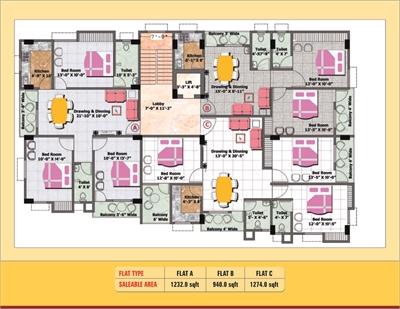 3 BHK, Multistorey Apartment / Flat For Sale in Danapur, Patna