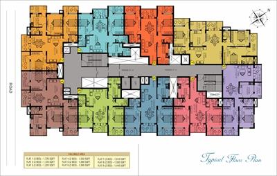 2 BHK, Multistorey Apartment / Flat For Sale in Kadri, Mangalore