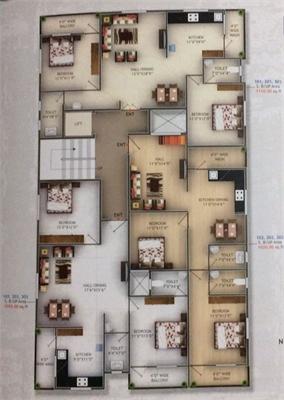 2 BHK, Multistorey Apartment / Flat For Sale in Besa, Nagpur-Maharashtra