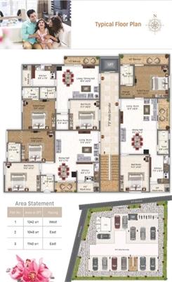 2 BHK, Multistorey Apartment / Flat For Sale in Attapur, Hyderabad