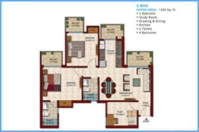 2 BHK, Multistorey Apartment / Flat For Sale in Kothapet, Hyderabad