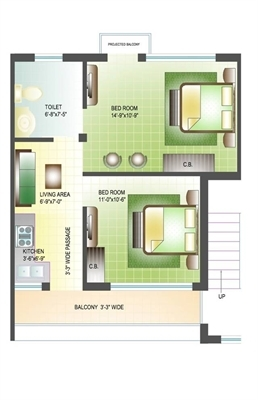 2 BHK, Builder Floor Apartment For Sale in landra banur road, Mohali