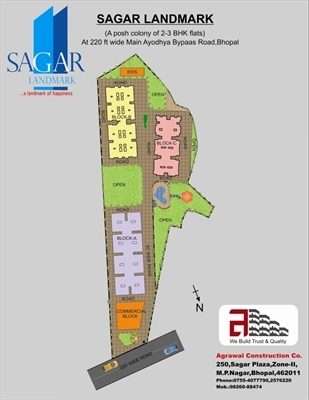 3 BHK, Multistorey Apartment / Flat For Sale in Ayodhya Bypass, Bhopal